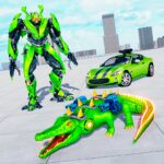 Crocodile Car Robot Simulator Robot Endless War 1.3 MOD Unlimited Money for android