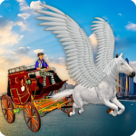 Flying Horse Taxi City Transport Horse Games 2020 2.0 MOD Unlimited Money for android