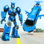 Flying Limo Robot Car Transform Police Robot Game 1.0.7 MOD Unlimited Money for android