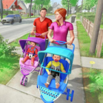 Virtual Mother New Baby Twins Family Simulator 2.1.6 MOD Unlimited Money for android