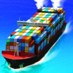 Sea Port Cargo Ship Town Build Tycoon Strategy 1.0.125 MOD Unlimited Money for android