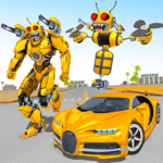 Bee Robot Car Transformation Game Robot Car Games 1.6 MOD Unlimited Money for android