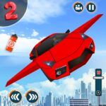 Flying Car Shooting Game Modern Car Games 2020 1.1 MOD Unlimited Money for android
