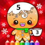 Happy Kids Christmas Coloring Book By Numbers 2.1 MOD Unlimited Money for android