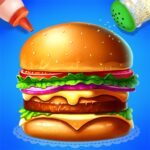 Make Hamburger – Yummy Kitchen Cooking Game 3.2.5022 MOD Unlimited Money for android