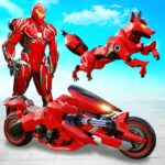 Wild Fox Transform Bike Robot Shooting Robot Game 12 MOD Unlimited Money for android