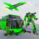 Army Bus Robot Transform Wars Air jet robot game 2.4 MOD Unlimited Money for android