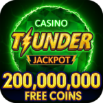 Thunder Jackpot Slots Casino – Free Slot Games 2.2 MOD Unlimited Money for android