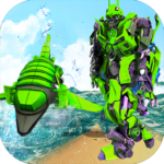 Futuristic Robot Dolphin City Battle – Robot Game 1.6 MOD Unlimited Money for android