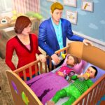 Virtual Mother Baby Twins Family Simulator Games 1.1.0 MOD Unlimited Money for android