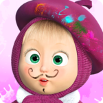 Masha and the Bear Free Coloring Pages for Kids 1.6.9 MOD Unlimited Money for android