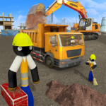 Stickman City Construction Excavator 1.6 MOD Unlimited Money for android