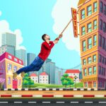City bounce rope heroFree offline adventure games 1.31 MOD Unlimited Money for android