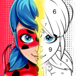 Miraculous Ladybug Cat Noir. Color by number 1.0.9 MOD Unlimited Money for android