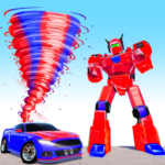 Air Robot Tornado Transforming – Robot Games MOD Unlimited Money for android