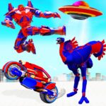 Flying Ostrich Robot Transform Bike Robot Games 38 MOD Unlimited Money for android