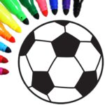 Football coloring book game MOD Unlimited Money for android