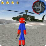 Stickman Spider Rope Hero Gangstar City MOD Unlimited Money for android