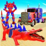 Crocodile Robot Car Transforming Mega Robot Games MOD Unlimited Money for android
