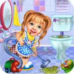 Sweet Baby Girl Cleaning Games 2021 House Cleanup MOD Unlimited Money for android