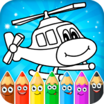 Coloring pages for children transport MOD Unlimited Money for android