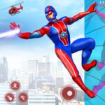 Flying Robot Superhero Rescue City Survival Games MOD Unlimited Money for android