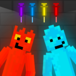 Fire and Water Playground Red and Blue Ragdoll MOD Unlimited Money for android