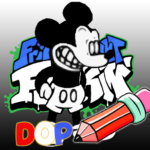 FNF Suicide Mouse Mod Draw One Part MOD Unlimited Money for android