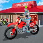 Scary Clown Boy Pizza Bike Delivery MOD Unlimited Money for android